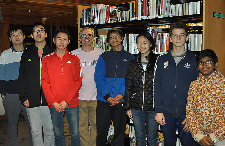 The George School math team ended their 2018 Math Madness season 7-1, ranked twentieth among the more than 550 US high schools that competed.